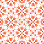 Orange Blumen Vektor Design