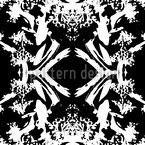 Florock BW Seamless Vector Pattern Design