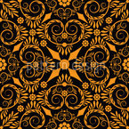 Opulenta Orange Seamless Vector Pattern Design