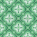 Quatrefoil Green Seamless Vector Pattern Design