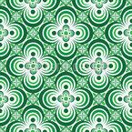 Vierpass Grün Nahtloses Vektormuster