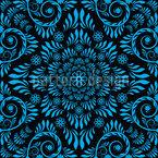 Blaues Blühen Nahtloses Vektormuster