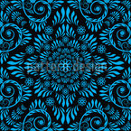 Blue Bloom Seamless Vector Pattern Design