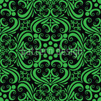 Green Romance Seamless Vector Pattern