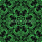 Grüne Romanze Nahtloses Vektormuster