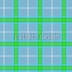 Blue Plaid Vector Ornament