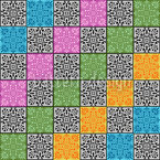 Embellished Checks Vector Pattern