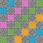 Verzierte Karos Vektor Muster
