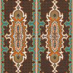 Fliegender Teppich Rapportiertes Design