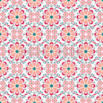 All Over Flowers Seamless Vector Pattern Design