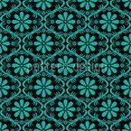 Überall Türkise Blumen Muster Design