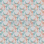 Retro Stag Seamless Vector Pattern Design