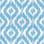 Ikat Damask Ogee Seamless Vector Pattern Design