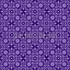 Violettas Dream Journeys Seamless Vector Pattern