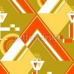 Deco Triangles Gold Seamless Vector Pattern Design