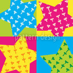 Birthday Stars Seamless Vector Pattern Design