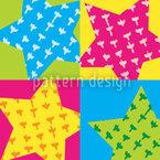 Geburtstags Sterne Nahtloses Vektormuster