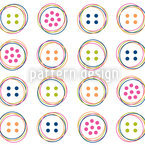 Fun Button Seamless Vector Pattern Design