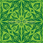 Green Blossom Dream Vector Pattern