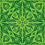 Grüner Blütentraum Nahtloses Vektormuster