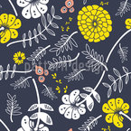 Shiny Blossom Wind Seamless Vector Pattern Design
