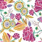 Floral Art At Daytime Pattern Design
