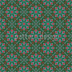 Retro Flowers Seamless Pattern