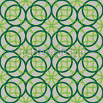 Green Rings Seamless Vector Pattern Design