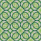 Anéis Verdes Design de padrão vetorial sem costura