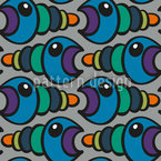 Worm Seamless Vector Pattern Design