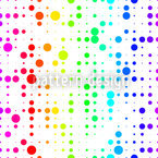 Rainbow Confetti Grid Pattern Design