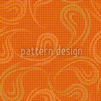 Lockere Paisleys Zimtfarbe Muster Design