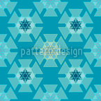 Frozen Triangles Seamless Vector Pattern Design