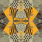Patchwork Safari Estampado Vectorial Sin Costura