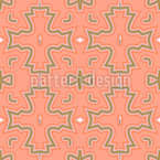 Salmon-Colored Crosses Seamless Vector Pattern Design