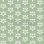 Blossom Drops Green Vector Ornament