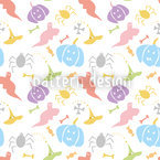 Halloween Mystery Seamless Vector Pattern
