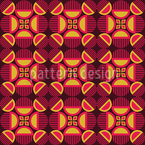 Retro Mystery Seamless Vector Pattern Design