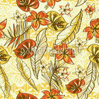 Vintage Hawaii Repeat Pattern