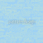 Heavenly Blue Words Seamless Vector Pattern Design