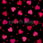 Hearts Dance Polka Seamless Vector Pattern