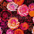 I Dream Of Roses Seamless Vector Pattern Design