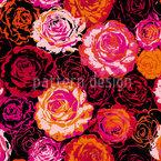 Ich Träume Von Rosen Nahtloses Vektormuster