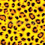 Wild Cheetah Seamless Vector Pattern Design