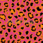 Wild Kitty Seamless Vector Pattern Design