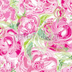 Watercolor Roses Pattern Design