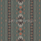 Ikat Pastel Seamless Vector Pattern Design