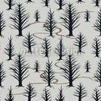 In The Winter Forest Seamless Vector Pattern Design