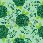 Meine Irische Rose Nahtloses Vektormuster