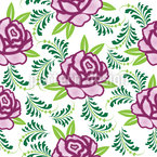 Meine Schottische Rose Nahtloses Vektormuster